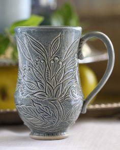 Grace DePledge carved mug