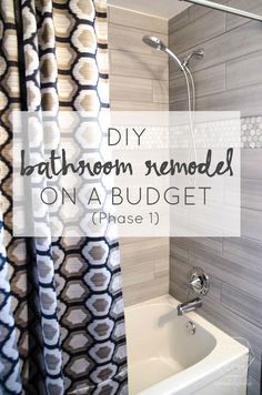 DIY Bathroom Remodel On A Budget + Thoughts On Renovating In Phases. Good  Ideas Here U0026b Plenty Of Bathroom Stuff On The Tradie Trade App ATM.