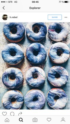 - If planet Earth was a donut, it would probably look like this! 🌏 I hope it stays as blue as these donuts! Food Photography Styling, Food Styling, Healthy Smoothies, Smoothie Recipes, Wind Of Change, 26th Birthday, Designing Women, Color Inspiration, Branding Design