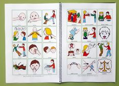 Juegos sentimientos Speech Therapy, Alter, Playing Cards, Teaching, Comics, Autism, Asperger, Preschool Speech Therapy, Social Stories