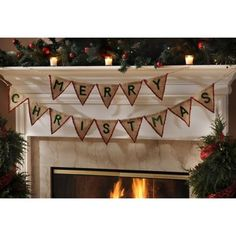 Red Merry Christmas Pennant Banner | Kirklands