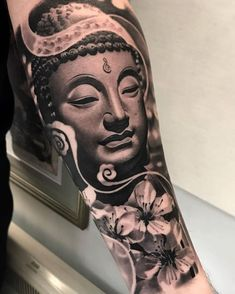 Amazing tattoo by robert_tufeanu Cynthia Halopka.ink for more amazing re. Hai Tattoos, Asian Tattoos, Wolf Tattoos, Forearm Tattoos, Body Art Tattoos, Chinese Tattoos, Buddhism Tattoo, Buddhist Symbol Tattoos, Hindu Tattoos