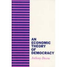 An Economic Theory of Democracy (Downs The probability of voting is a function of the expected utility of voting, the chance of your vote affecting the outcome, the expected benefit of your preferred candidate winning, and the cost of voting Theory, Leadership, Benefit, Politics, Models, Reading, Classic, Books, Templates