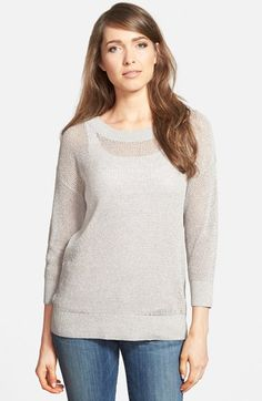Women's Nordstrom Collection Mesh Knit Sweater