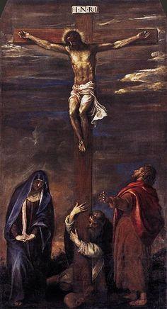 Titian 1558 Ancona Crucifixion.