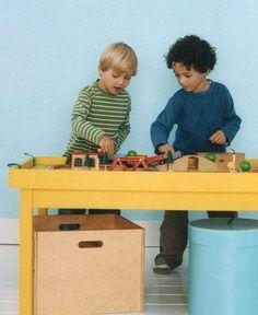 Como hacer una mesa de juegos para niños