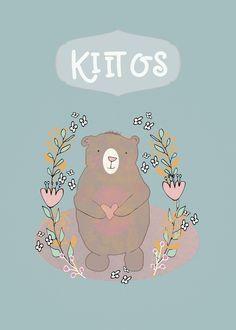 Thank You in Finnish, Kiitos, Cute Bear, Illustration card #Ad , #Affiliate, #Cute, #Kiitos, #Finnish, #card