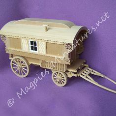 1:12 scale Gypsy Caravan Kit by McQueenie from www.magpies-miniatures.net