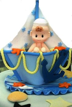 Nautical Baby Shower Cake Topper Nautical by PartyFavorsMiami