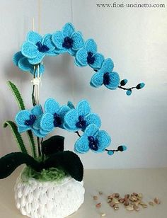 Crochet Orchid Flower Pattern Video Tutorial Easy Instructions