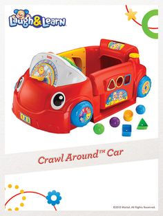 The Crawl Around Car encourages baby to sit up, crawl, pull up, stand and move all around! For a chance to win, click here: http://fpfami.ly/014ez #FisherPrice #Toys #Playtime