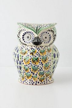 Handpainted Folk Owl Cookie Jar | Anthropologie.eu I absolutely love this!