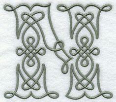 Celtic Knotwork Letter N - 5 Inch