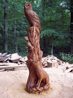 Beautiful Tree Carvings Made By Talented British Sculptor Tommy - Artist spends year woods creating beautiful sculptures