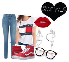 """""""Untitled #81"""" by onlyyc on Polyvore featuring Paige Denim, Vans and Lime Crime"""