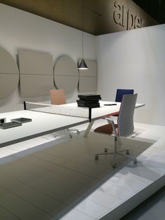 Arper Milano Design week 2015 Work Place 3.0 – Salone Ufficio // Kinesit chair and Parentesit wall panels by lievore altherr molina