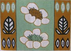 Uncluttered GardenEasy Stitchpainted Needlepoint