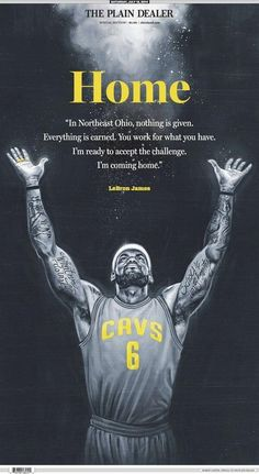 Homecoming King: LeBron James says 'I'm coming home'. James left Miami and has re-signed with the Cleveland Cavaliers. What an unbelievable homecoming party this has been! Lebron James Cavs, Lebron James Cleveland, Cleveland Cavs, Cleveland Rocks, Lebron James Quotes, Im Coming Home, Air Max Thea, Nike Lebron, Back Home