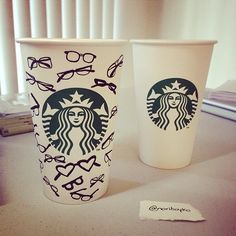 If your mom wears eyeglasses, this Starbucks cup would make a fab gift!