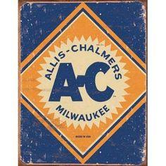 Allis-Chalmers Milwaukee Tin Sign