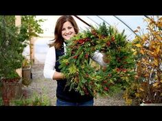 How to Make a Simple Holiday Pine Wreath. Watch a video and learn how to use festive pine and woodland green boughs to make a festive fall or winter wreath. Christmas Wreaths For Front Door, Cute Christmas Tree, Christmas Music, Holiday Wreaths, Christmas Decorations, Christmas Crafts, Holiday Decorating, Christmas Holiday, Holiday Ideas