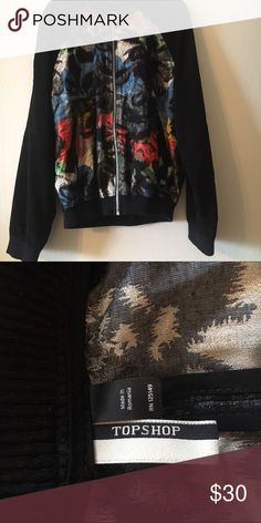 Top shop bomber jacket Funky pattern silk bomber jacket Topshop Jackets & Coats