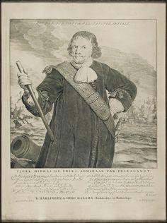 Tjerk Hiddes de Vries, gravure door Abraham Blootelingh naar een tekening van Gerbrandt van den Eeckhout, uitgegeven in Harlingen 1667 door Hero Galama, boekdrukker en boekverkoper, drukker van de Friese Admiralteit en de stad Harlingen