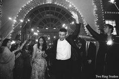indian wedding bride groom fireworks http://maharaniweddings.com/gallery/photo/11302