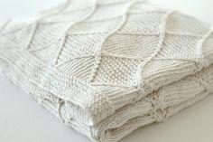 pdf KNITTING PATTERN   Baby Blanket  by rocketclothinglondon