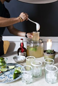 DIY margarita cocktail bar