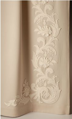 Embroidered Drapery Panel- gorgeous for a bedroom! Heritage collection by Holland and Sherry