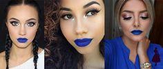 Labios azules azul