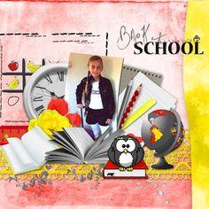 Bribri62-Scrap: Ma page avec le Kit collab Back to school de Kastagnette et de Vanessa créations