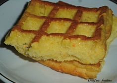 Gaufres fruitées (sans farine) - Chez Vanda Chez Vanda, Pie, Breakfast, Beignets, Food, Sweets, Semolina Recipe, Skinny Kitchen, Easy Cooking
