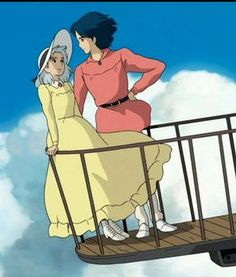 Howls Moving Castle. Howl and Sophie! :3