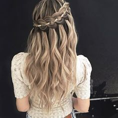The 4-Strand Waterfall Braid If you want to learn it, I've linked the tutorial for it in my bio