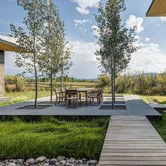 Shoshone Residence is a landscape design project by Hershberger Design, Landscape Architects. Jackson Hole, Wyoming. Landscape Architecture | Planning | Urban Design  ~ Great pin! For Oahu architectural design visit http://ownerbuiltdesign.com