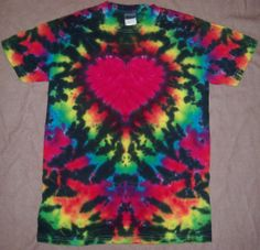 Tie Dye TShirt With Psychedelic Heart And by TheTieDyeBohemian, $20.00