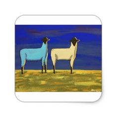 Blue Monday Square Sticker - country gifts style diy gift ideas