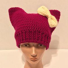 Pussycat Hat Crochet Pussyhat Pink Pussy by EnchantingCreations7