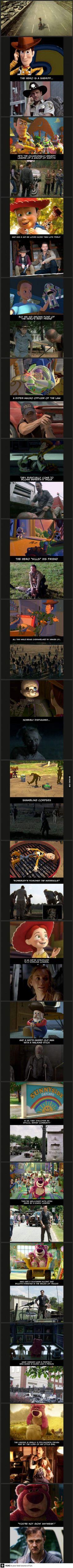 Toy Story vs Walking Dead. Mind blown!