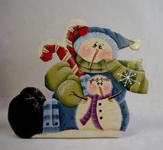 Frostys Place Snowman Fridge Magnet and/or Shelf by ByBrendasHand