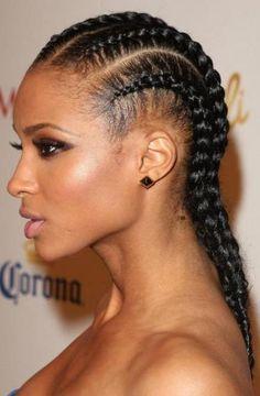 cornrows for black women | Ciara styled her entire mane in cornrows.