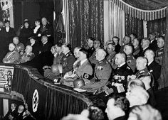 "17 Mar 35: In a spectacular service in the Berlin Opera House on ""Heroes' Memorial Day"" to honor German fallen of WWI, Hitler announces to the world that the Treaty of Versailles will henceforth be completely ignored. This will throw Europe and the world into a state of nervous apprehension. More: http://scanningwwii.com/a?d=0317&s=350317 #WWII"