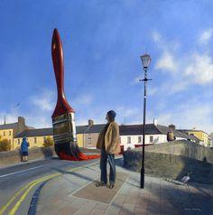 Painting the town red - Jimmy Lawlor Jimmy Lawlor, Light Art Installation, Most Beautiful Paintings, Vladimir Kush, Chalk Art, Cubism, Land Art, Surreal Art, Community Art