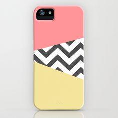 Color Blocked Chevron 2 iPhone & iPod Case