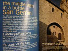 San Gemini - The middle ages in a bottle of water #Umbria