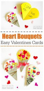 Heart Bouquet Cards - Valentines - Red Ted Art's Blog