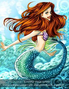 Ariel The Little Mermaid art