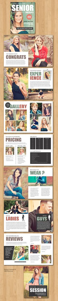 Senior Marketing Magazine Template For Photographers
